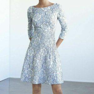 Eliza J Powder Blue Floral Lace Fit & Flare Dress